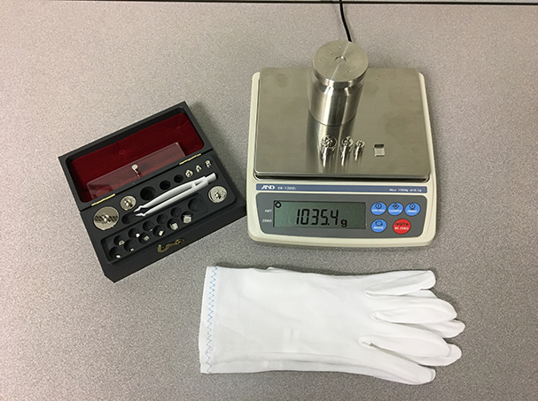 A tool kit for inspecting scales at a store.