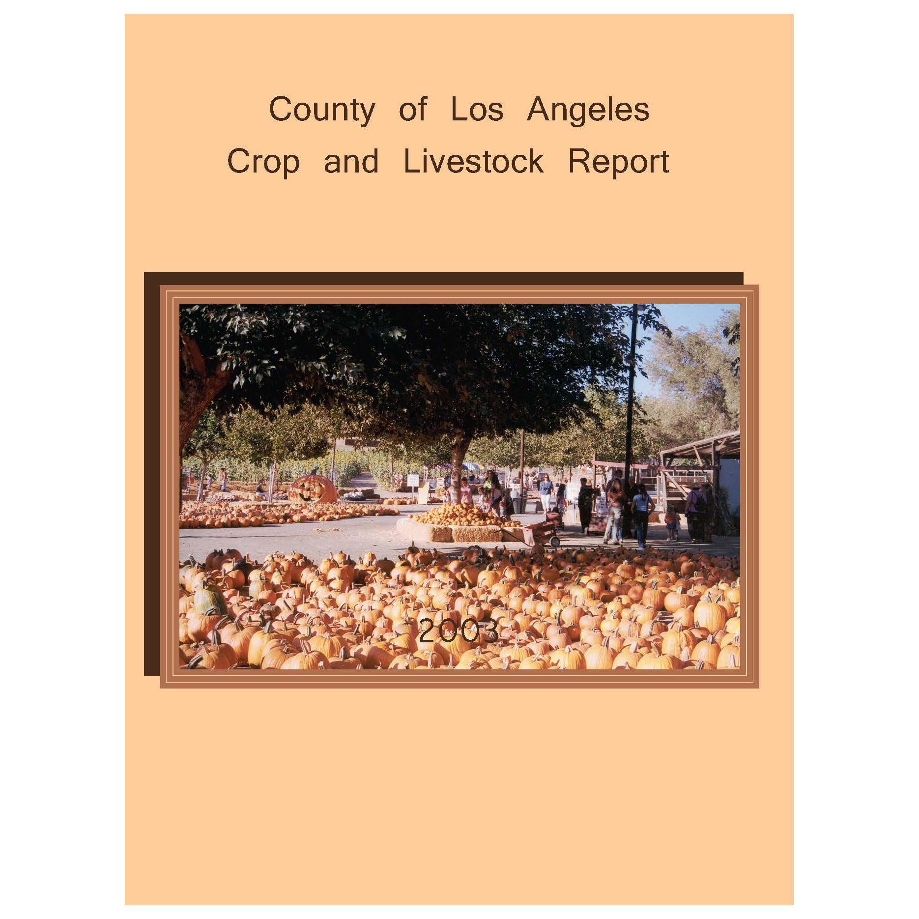 2003 Crop Report